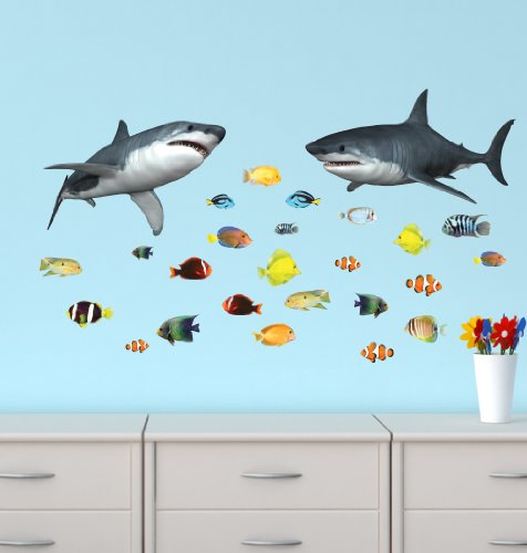 Shark Wall Stickers Tropical Decals