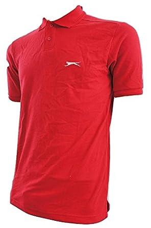 Slazenger - Polo - Básico - para Hombre Rojo Rosso Small: Amazon ...