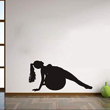 XCGZ Pegatinas de pared Juego De Niña Yoga Pegatinas De ...