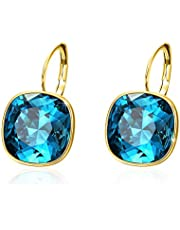 Xuping Gorgeous Fashion Crystals from Swarovski Huggies Hoop Earrings Women Girl Party Jewellery Mom Girlfriend Gifts