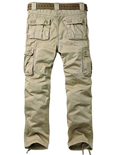 Uomo Militari 6531 Tasche Laterali Cargo apricot Da Casual Lavoro Albicocca Con Match Pantaloni T1gqg4