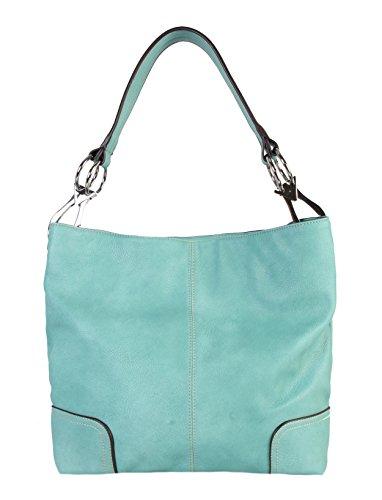 Diophy Soft PU Leather Hobo Womens Purse Handbag (Leather Print Hobo Bag)