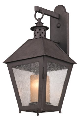 Troy Diffuser - Troy Lighting B3293, Sagamore Outdoor Wall Sconce Lighting, 100 Total Watts, Centennial Rust