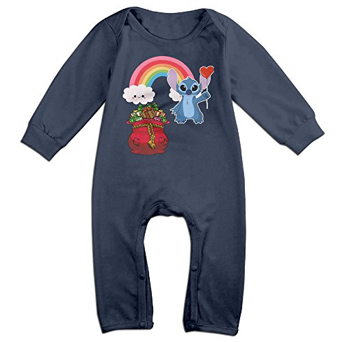 [VanillaBubble Stitch And Christmas For 6-24 Months Newborn Funny Romper Navy Size 12 Months] (Dwayne Johnson Baby Costume)
