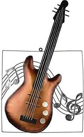 Décoration Murale En Métal Image Guitare Et Notes De Musique 63