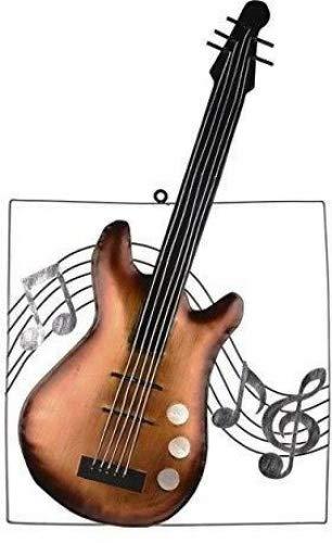 Metal Wall Art Decor, Imagen De Guitarra Y Notas Musicales (63 cm ...