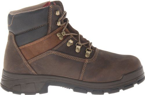 WOLVERINE WORLDWIDE - Cabor Waterproof Work Boots, Medium Width, Brown Nubuck Leather, Men's Size 9.5