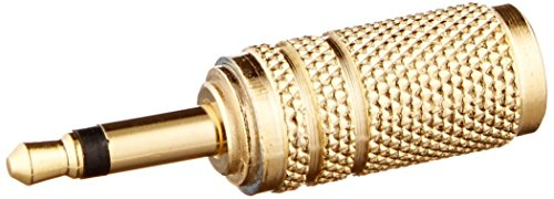 Monoprice 107158 3.5mm Mono Plug to 3.5mm Stereo Jack Adaptor, Gold Plated (2 -