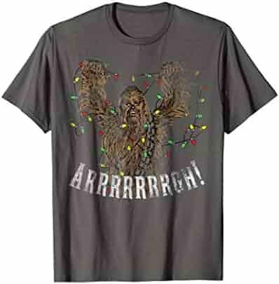 Star Wars Chewbacca Roar Christmas Lights Graphic T-Shirt