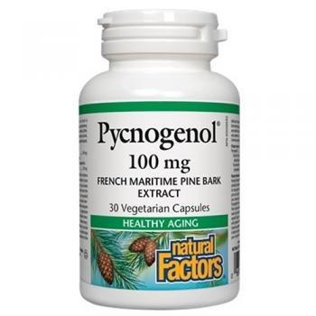 Natural Factors - Pycnogenol 100mg - Promotes Healthy Aging, 30 Vegetarian Capsules by Natural Factors