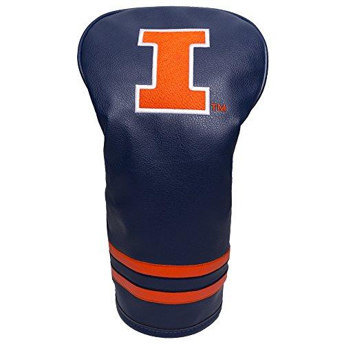 Team Golf NCAA Illinois Fighting Illini Vintage Driver Golf Club Headcover, Form Fitting Design, Retro Design & Superb Embroidery