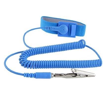 DealMux Anti-estático Esd Protective Wrist Strap Banda Fio de Terra Céu Azul