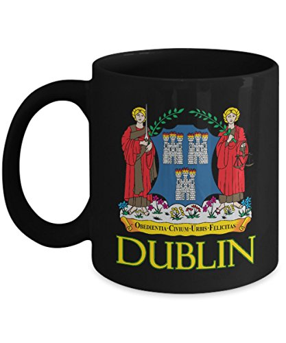 - Dublin, Ireland - Coat of Arms: Ceramic Coffee Mug