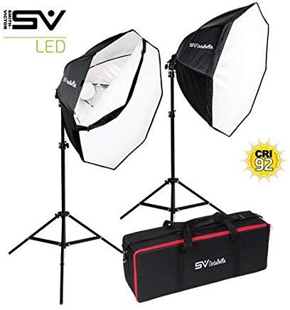 Smith Victor OctaBella 1000W 2-LED Light Softbox Kit by Smith-Victor