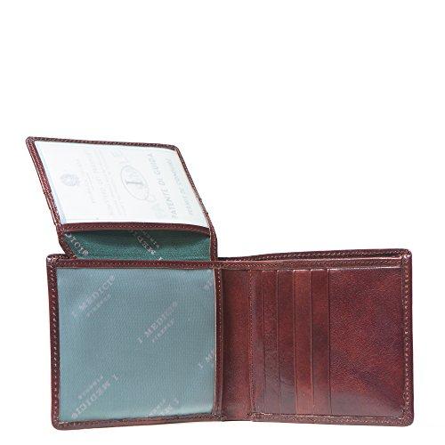I Medici with Bifold I Brown ID Mens Medici Window Wallet RHwaxH