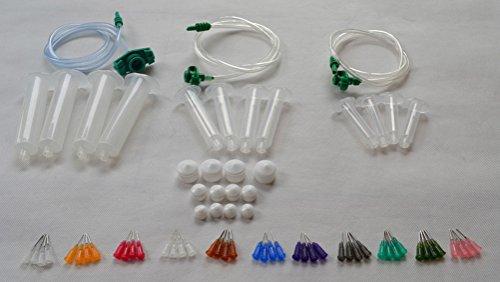 Liquid Dispenser Solder Paste Adhesive Glue Syringe + Dispensing Needle Tip