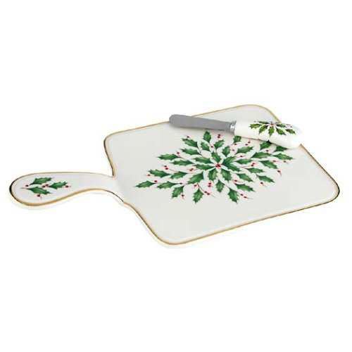 Lenox Holiday Cheese Board w/Spreaders by Lenox