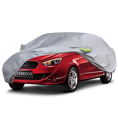 YIBEICO L(178''-191 Car, Waterproof/Windproof / Snowproof/Dustproof / Scratch Resistant Outdoor UV Protection Full Auto Covers for Sedan (Dodge Car Avenger Cover)