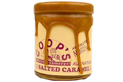 Caramel Vanilla Fudge - Coops Microcreamery, Topping Salted Caramel, 10.6 Ounce
