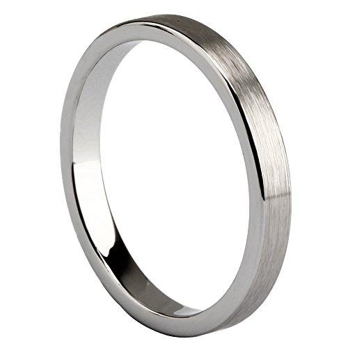 Silver Tungsten Carbide Brushed Wedding