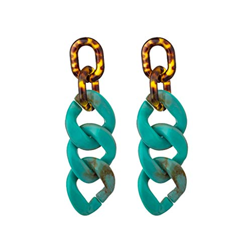 Jocund Women Punk Large Acetic Acid Geometric Three layer Nesting Earrings Ladies Jewelry