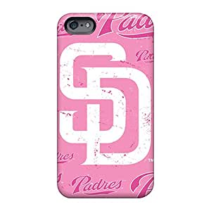 Perfect Hard Phone Cases For Apple Iphone 6 Plus (sST10613lZwa) Unique Design High Resolution San Diego Padres Skin