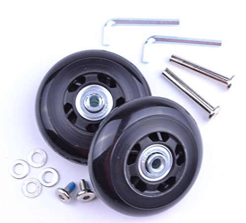 - minihut 2 Set of Luggage Suitcase Replacement Wheels With Repair Kit Axles Deluxe