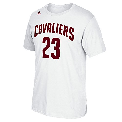 NBA Cleveland Cavaliers LeBron James #26 Men's 7 Series Name & Number Short Sleeve Tee, XX-Large, White