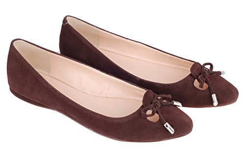 para de Ante Pump602 queenfoot suede mujer C Brown Mocasines Ofq4nZ