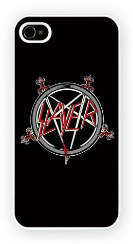 Slayer - Pentagram Logo, iPhone 4 4S, Etui de téléphone mobile - encre brillant impression