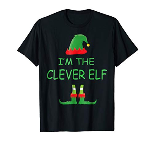 I'm the CLEVER Elf Matching Family Group Costume Christmas -