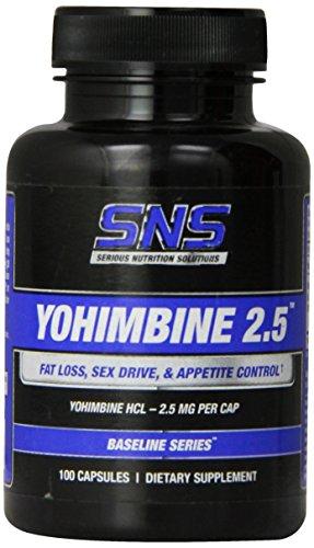 Sérieux Nutrition Solution Yohimbine 2.5, 100 capsules
