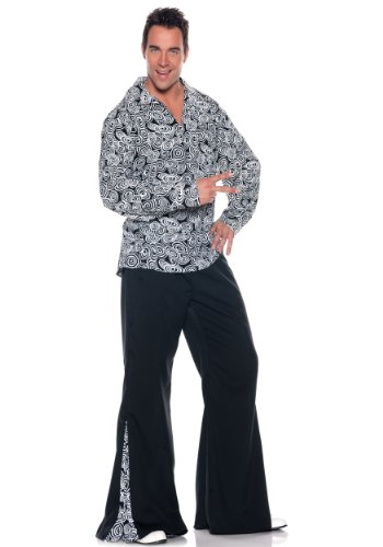 [Underwraps mens Plus Size Funky Disco Costume 3X] (Mens Disco Costumes Pants)