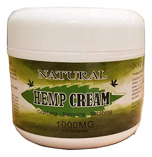 Natural Hemp Extract Cream - 1000Mg - Natural Hemp Pain Relief Cream for Inflammation, Muscle, Joint, Back, Knee & Arthritis Pain