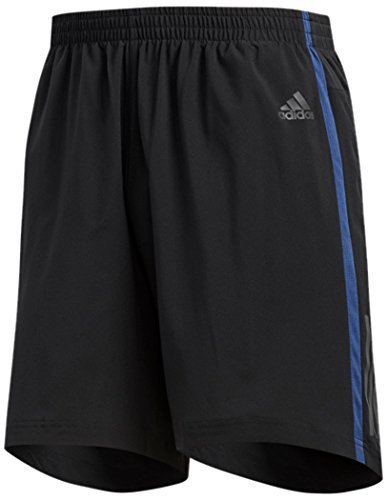 adidas Men's Running Response Shorts, Black/Noble Indigo, X-Large/5''