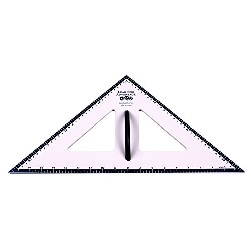 Learning Advantage 7595 Dry Erase Magnetic Triangle, 45/45/90 Degree