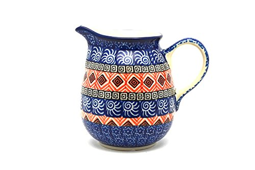 Polish Pottery Creamer - 10 oz. - Aztec Sun