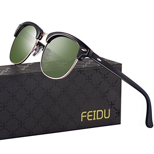 Polarized Mens Sunglasses for Men - FEIDU Polarized Sunglasses Mens Sunglasses FD 3030 (green-3030, 2.08) by FEIDU