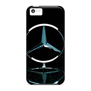 BretPrice Scratch-free Phone Case For Iphone 5c- Retail Packaging - Mercedes In Light Rain