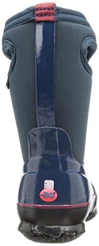 Pantaloncini Per Bambini Classico Alto Impermeabile Isolato In Gomma Neoprene Stivale Pioggia Solido Blu Marino