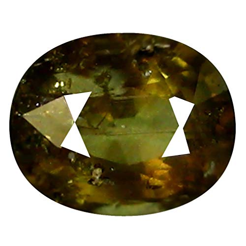 Green Natural Sapphire (1.52 ct OVAL CUT (7 x 6 mm) 100% NATURAL GENUINE UNHEATED UNTREATED CEYLON GREEN SAPPHIRE LOOSE GEMSTONE)