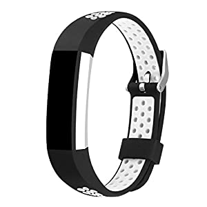 For Fitbit Alta Bands and Fitbit Alta HR Bands, Newest Adjustable Sport Strap Replacement Bands for Fitbit Alta and Fitbit Alta HR Smartwatch Fitness Wristbands Silicone White