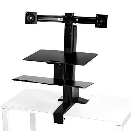 AmazonBasics Ergonomic Standing Desk Work Station for Dual Monitor and Keyboard ()