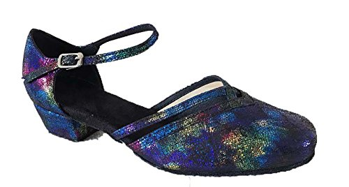 WDS Ladies Galaxy Closed Toe Dance Shoes for Line, Latin, Ballroom, Jive, Ceroc, Salsa & Tango UK 3-8 (88810BPG)