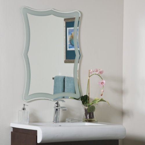 Decor Wonderland Coquette Frameless Bathroom -