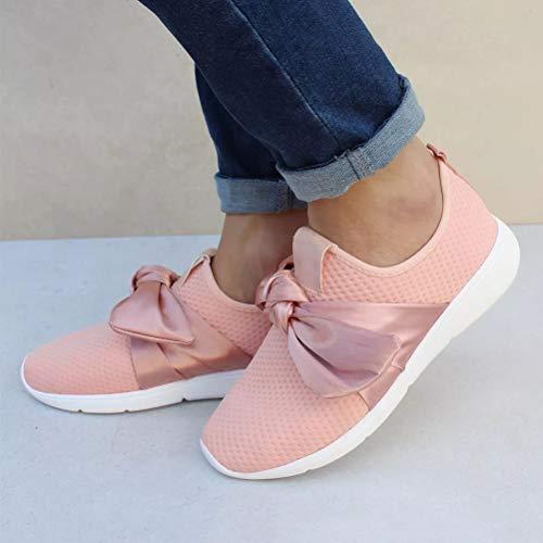 Rosa Running Palestra Sport Ragazze No Lacci Donna Sneakers Scarpe Corsa Sneaker Jogging Ginnastica 7Idx8IqOSw