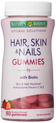Bounty Optimal Solutions cheveux de la nature, de la peau et des ongles Gummies, 80 Count (pack de 3)