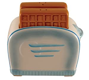 Toaster 3 Piece Ceramic Salt and Pepper Set by Paris and Bee Bee