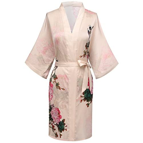 best ExpressBuyNow Short Kimono Robes for Women - Watercolor Floral ... 5b5e368fe