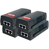 BV-Tech Single Port Power over Ethernet PoE Injector – 19W – 802.3af – up to 100 meters (325 Feet) – 4-Pack